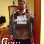 "My first ever 5km run - icy rain was an added ""bonus"""